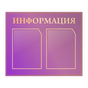 Стенд Информация пурпурный 2 кармана А4