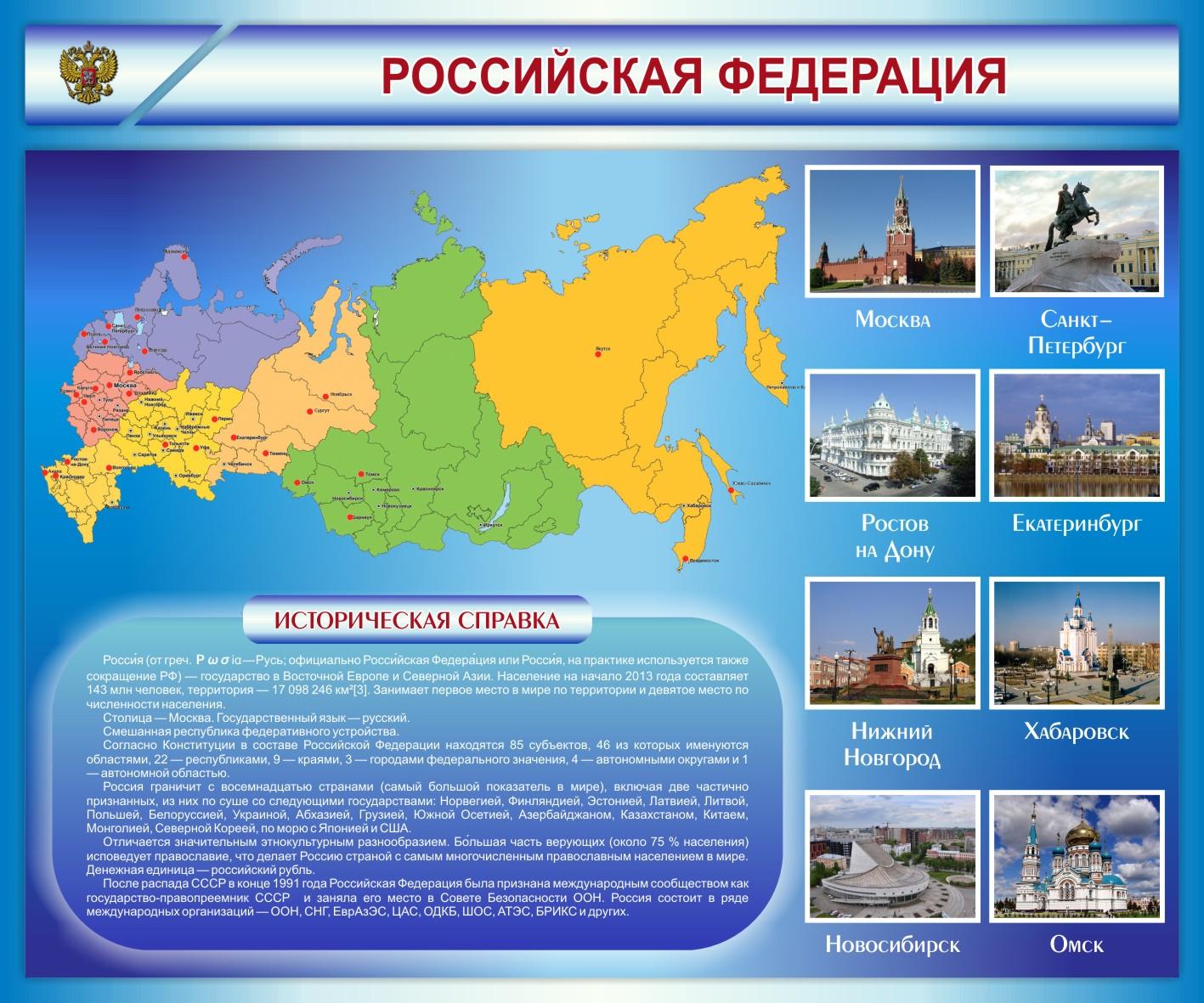Стенд Российская Федерация