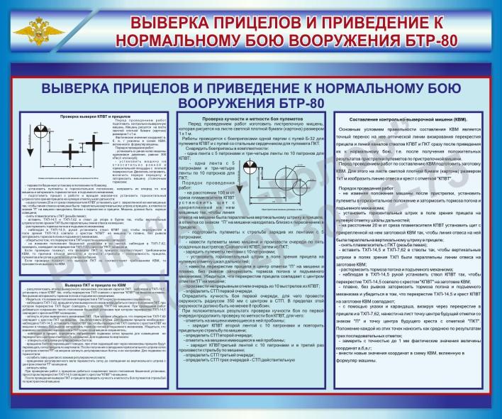 Стенд Выверка прицелов и приведение к нормальному бою вооружения БТР-80