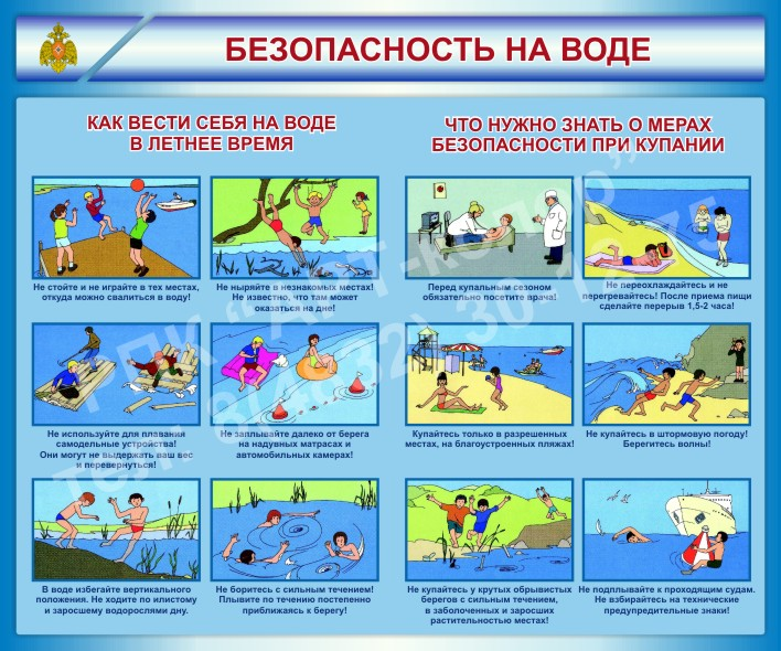 Стенд Безопасность на воде
