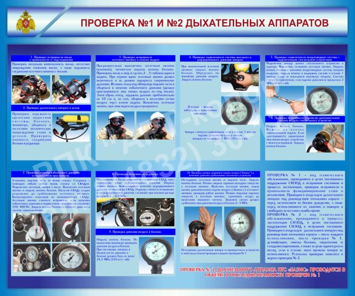 Стенд Проверка №1 и №2 дыхательных аппаратов