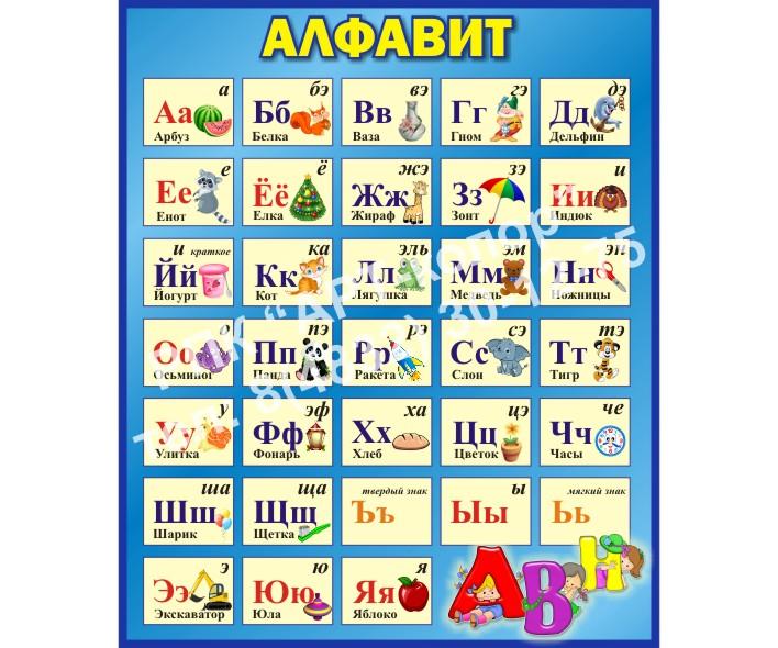 Алфавит синий