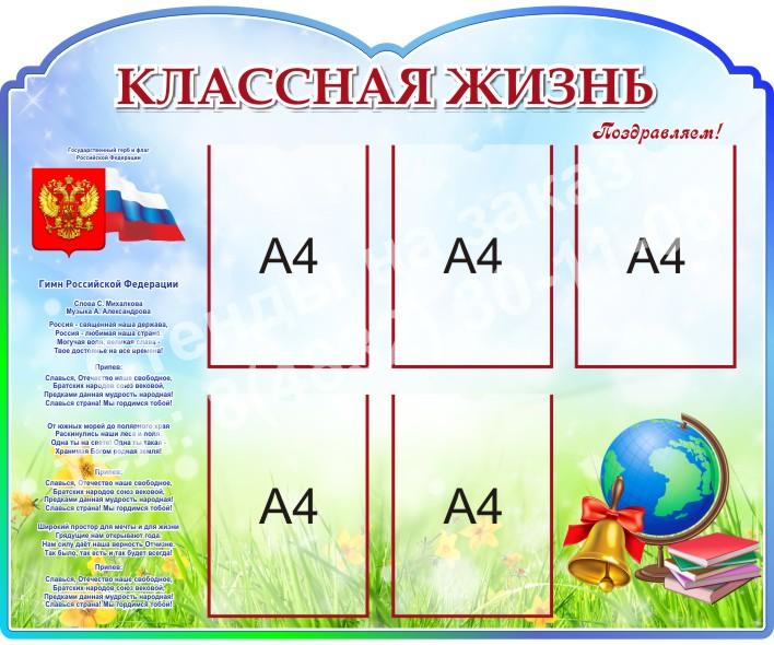 Классная жизнь с символикой РФ