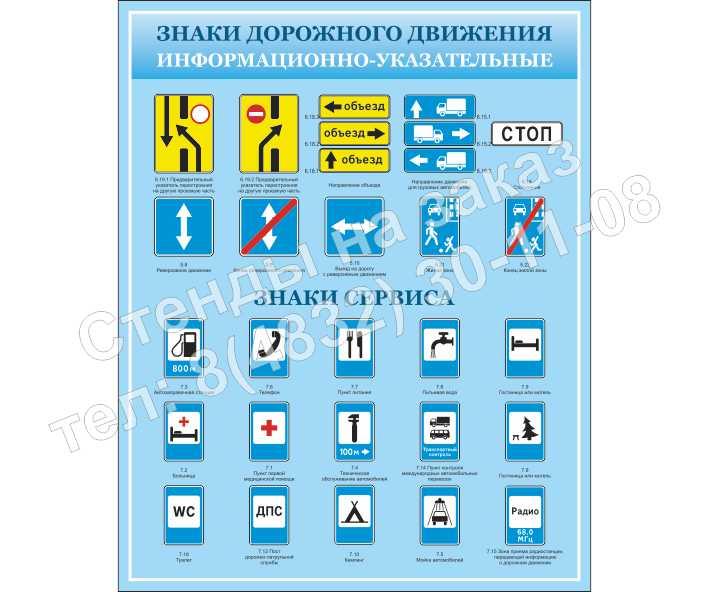 """""""Информационно-указательные знаки"""" стенд 2"""