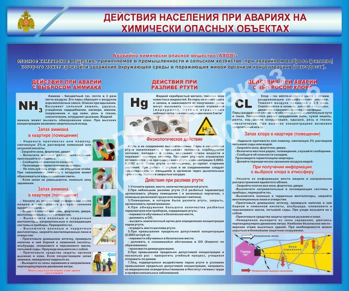 Действия населения при авариях на химически опасных объектах